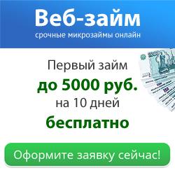 Веб-займ: бесплатный и беспроцентный займ