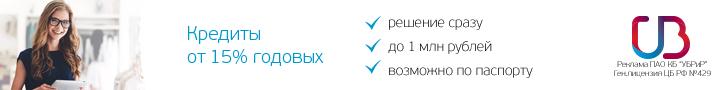 Кредитный калькулятор банка УБРиР для физических лиц