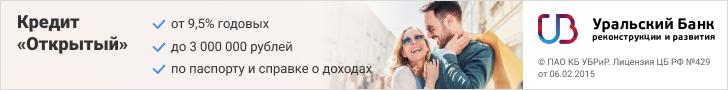 Кредитный калькулятор Уральского банка реконструкции и развития для физических лиц